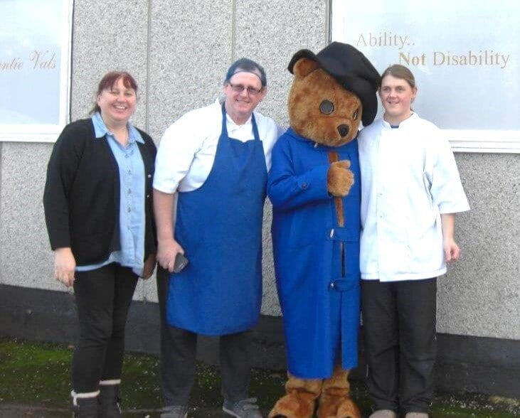 Paddington with marmalade makers