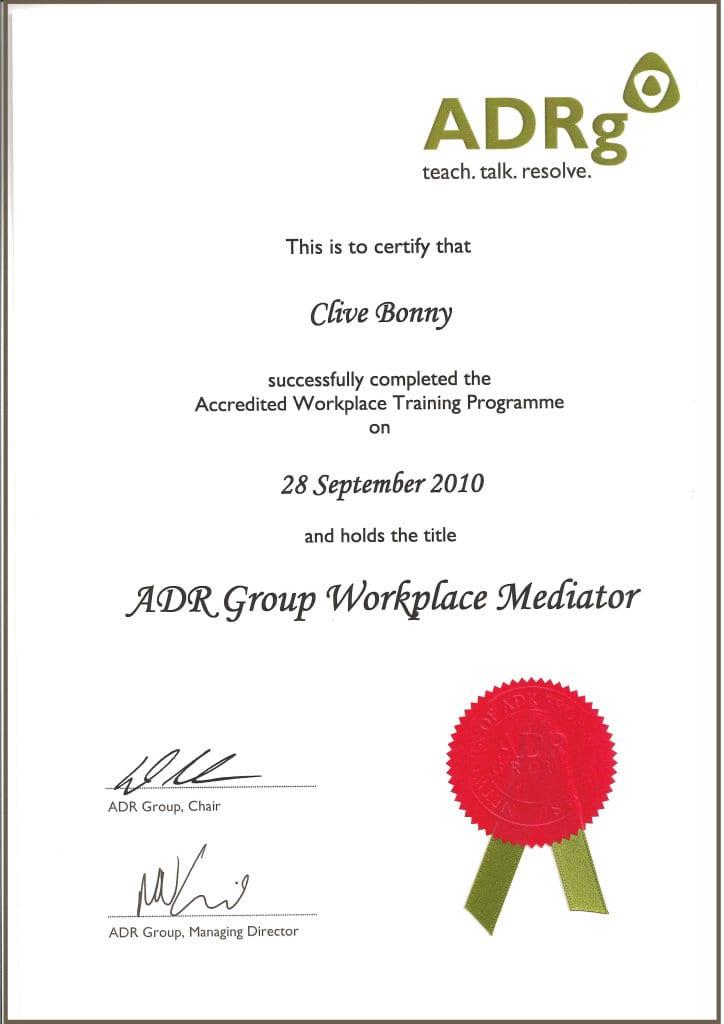 Bonny ADR Mediation Certificate