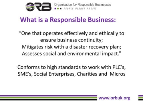 responsible business presentation